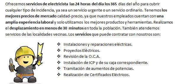 Electricistas Casetas 24 horas